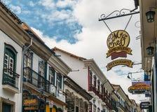 Lojas em Ouro Preto, Brasil fotografia de stock royalty free