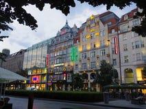 Lojas em Praga foto de stock