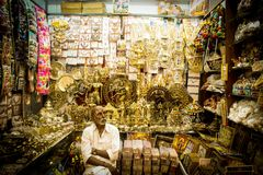 Lojas indianas Imagem de Stock Royalty Free
