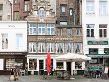 Lojas no centro de cidade de Antuérpia, Bélgica Fotos de Stock