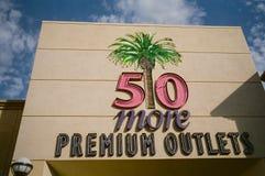 Lojas outlet superiores Califórnia Fotos de Stock