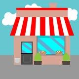 Lojas pequenas da rua ilustração royalty free