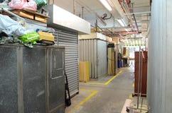 Lojas velhas de Nam Shan Public Housing Estate em Hong Kong Imagem de Stock