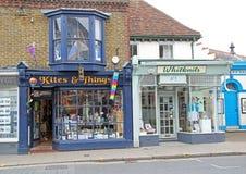 Lojas vitorianos da rua Imagem de Stock Royalty Free