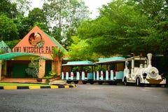 Lok Kawi Wildlife Park Facade i Sabah, Malaysia arkivfoton