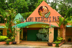 Lok Kawi Wildlife Park Facade i Sabah, Malaysia royaltyfri foto