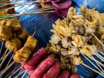 Lok Lok Snack foods i Penang, Malaysia royaltyfri fotografi