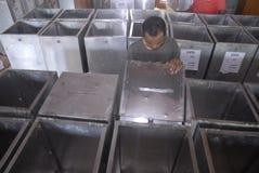 LOKAAL DE VERKIEZINGENdoel VAN INDONESIË Stock Afbeelding