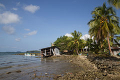 Lokaal dorp op Solomon Islands Royalty-vrije Stock Foto's