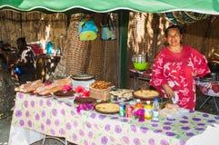 Lokaal markteiland van Pijnbomen Stock Foto's