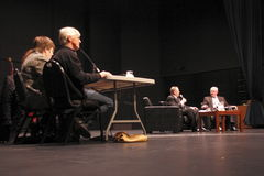 Lokaal mayoralty Debat Stock Foto's