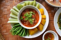 lokaal voedsel in Thailand stock afbeelding
