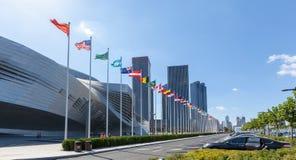 Lokacja Davos forum convention center, Dalian, Chiny obraz stock