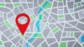 Lokacja sprecyzowana na nawigacji mapie ilustracja wektor