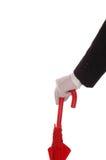 lokaj czerwony parasol obraz royalty free