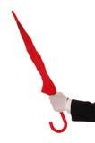 lokaj czerwony parasol fotografia royalty free
