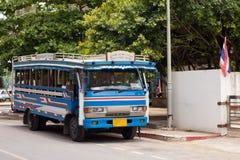 Lokal buss i Phuket, Thailand Fotografering för Bildbyråer