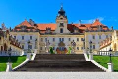 Lokal för arv för värld för Valtice slottUnesco Arkivfoto