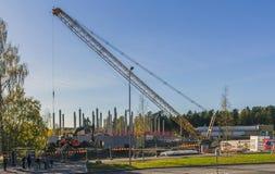 lokal för hus för byggnadskonstruktion ny Arkivfoto