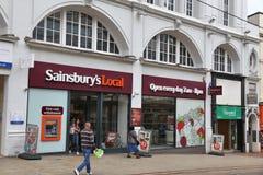 Lokal för Sainsbury ` s Royaltyfri Bild