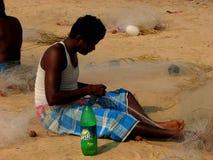 Lokal fattig man i Indien Arkivfoton