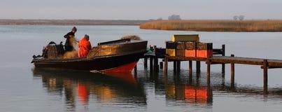 Lokal fiskare Fotografering för Bildbyråer