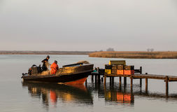 Lokal fiskare Royaltyfria Foton