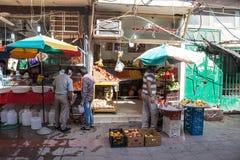 Lokal fruktmarknad i Bandar Abbas Fotografering för Bildbyråer