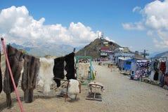 Lokal handel i Dombai Arkivfoto