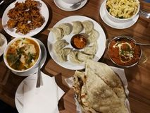 Lokal indisk mat Fotografering för Bildbyråer