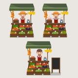 Lokal jordbruksprodukter för grönsaker för sälja för marknadsbonde Royaltyfri Bild