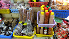 Lokal livsmedelsbutik i Malaysia Arkivfoto