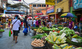 Lokal marknad på kineskvarteret i Manila, Filippinerna Royaltyfri Foto