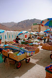 Lokal marknad som säljer data Fotografering för Bildbyråer