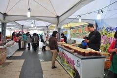 Lokal marknadsplats i Seoul Arkivfoto
