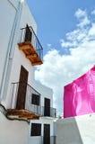 lokal penya sa för arquitecturadetalleibiza Arkivbilder