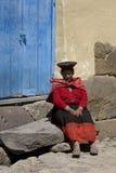 lokal peru kvinna royaltyfri fotografi