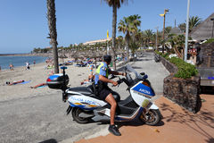 lokal policia tenerife Royaltyfria Foton