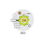 Lokal Seo Keywording Search Icon stock illustrationer