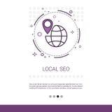 Lokal Seo Keywording Search Web Banner med kopieringsutrymme Arkivbilder