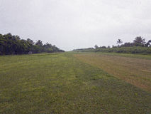 Lokal start- och landningsbana, gåtaö, Vanuatu, 2017 Arkivfoto