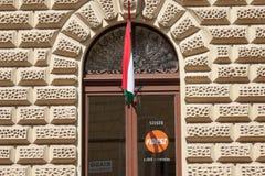 Lokala högkvarter av det Fidesz politiska partiet i Szeged, sydlig Ungern Royaltyfri Bild