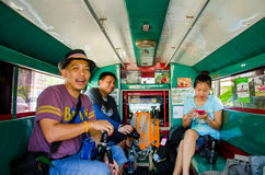 Lokala passagerarebilar Arkivbild