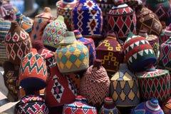 Lokale ambachten in Arabische markten stock afbeeldingen
