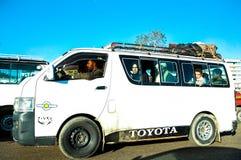 Lokale Bus in Cario, Egypte Royalty-vrije Stock Afbeelding