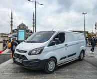 Lokale bus in Istanboel, Turkije royalty-vrije stock foto's