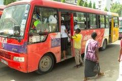 Lokale bussen van Dar Es Salaam royalty-vrije stock afbeelding