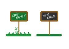 Lokale farmmarket Platte Lizenzfreie Stockfotografie