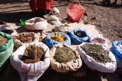 Lokale korrels voor verkoop in Lalibela royalty-vrije stock afbeelding