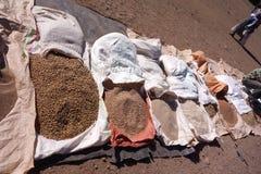 Lokale korrels voor verkoop in Lalibela royalty-vrije stock foto